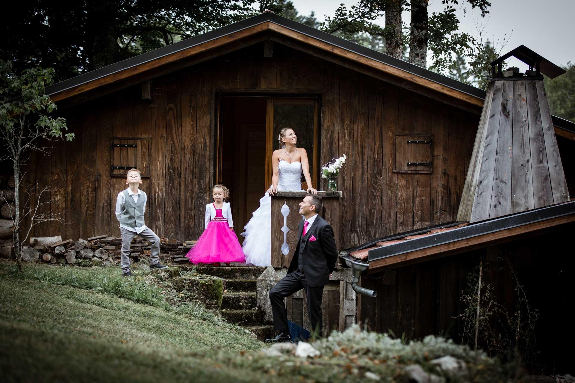 photo de groupe pour mariage famille