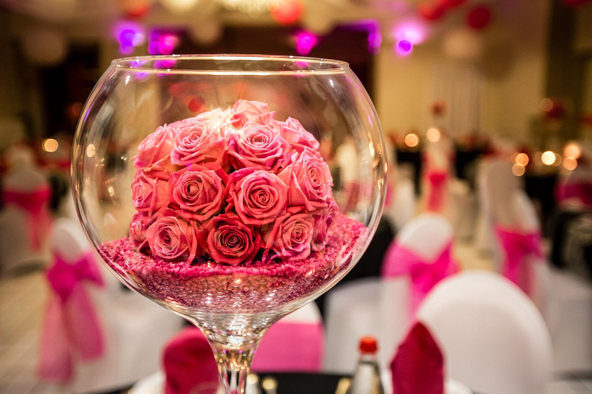 detail florale pour reception diner