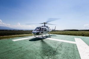 Mariage Helicoptere Chavannes Best Western arrivee