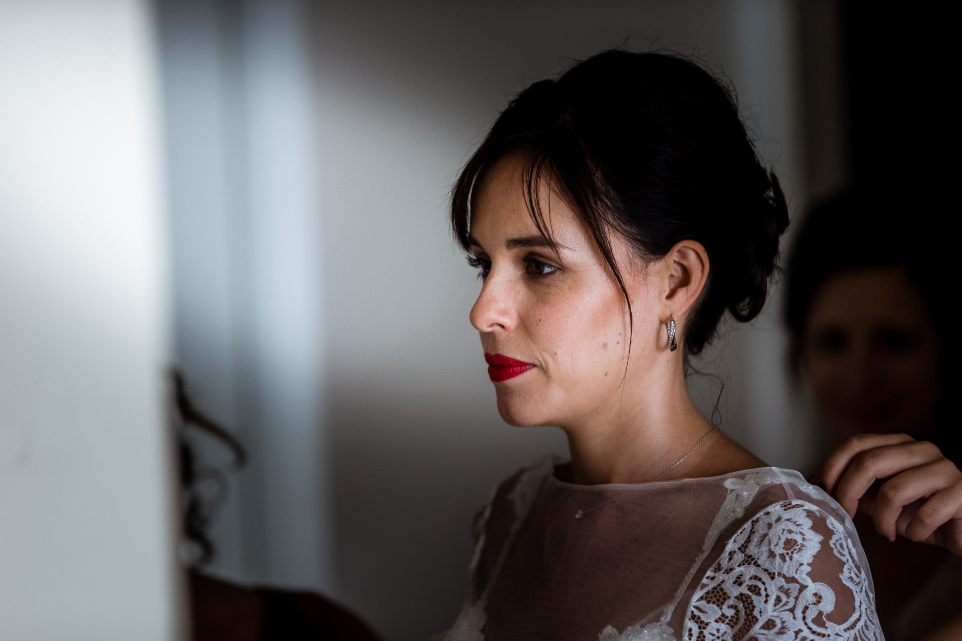 Preparatif portrait mariee Carouge - Photographe Mariage
