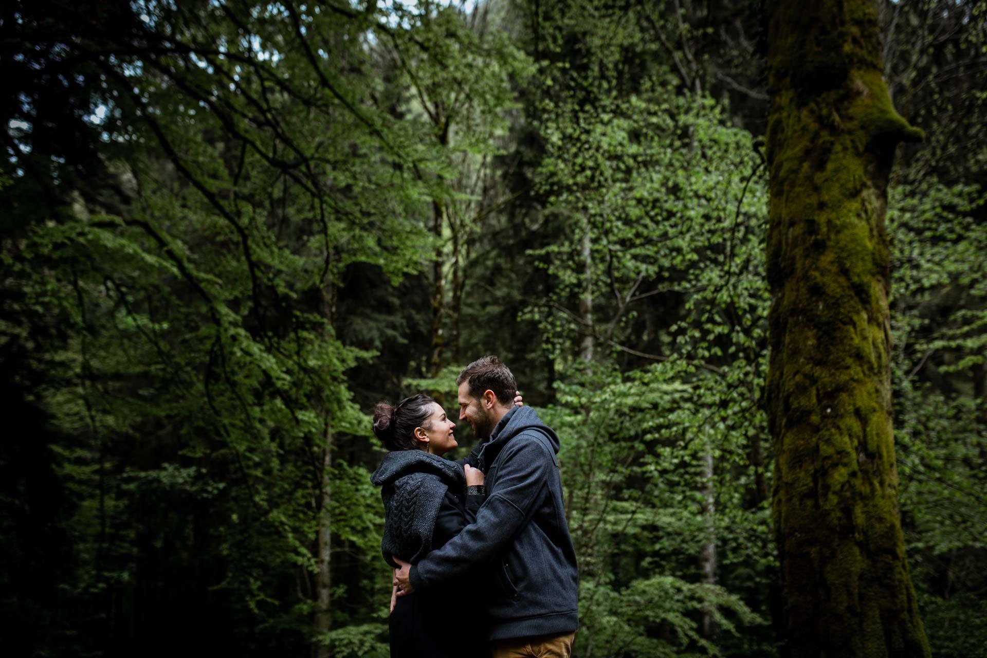 Photos de couple au Creux de l'envers