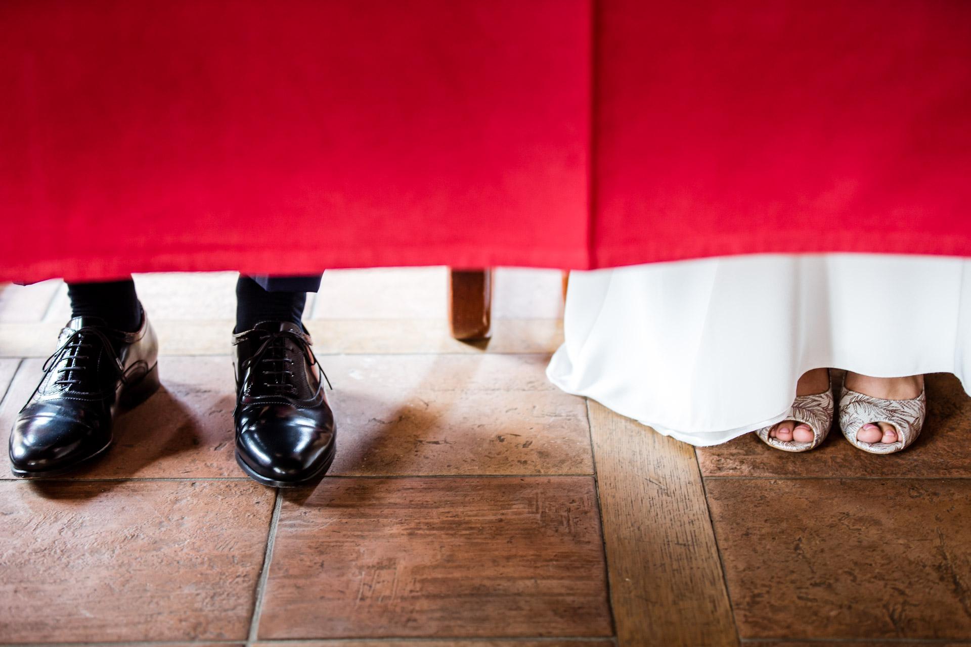 Mariage Mont Saxonnex mairie ambiance chaussure