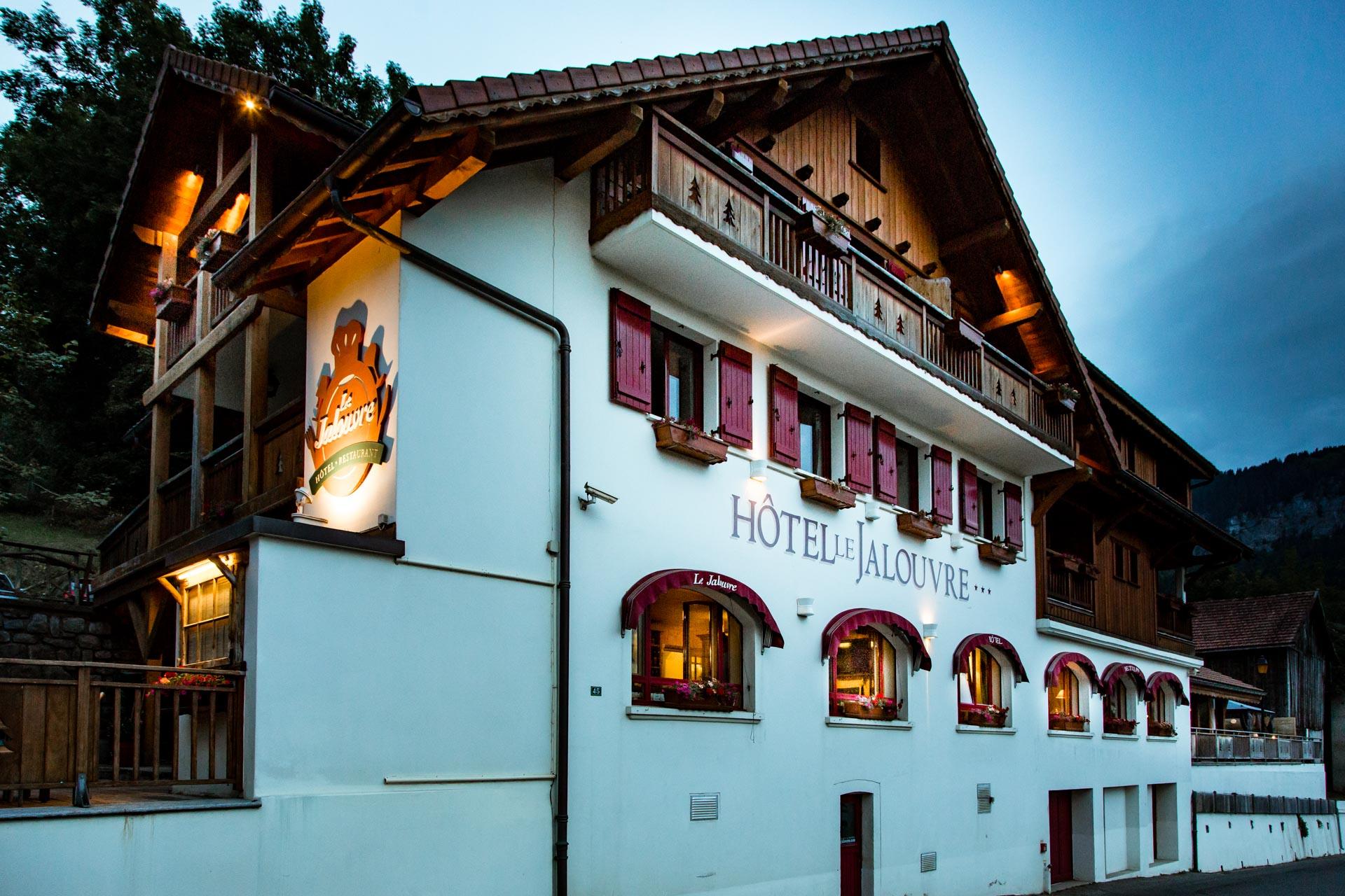 Mariage Mont Saxonnex Hotel Restaurant le Jalouvre a la nuit