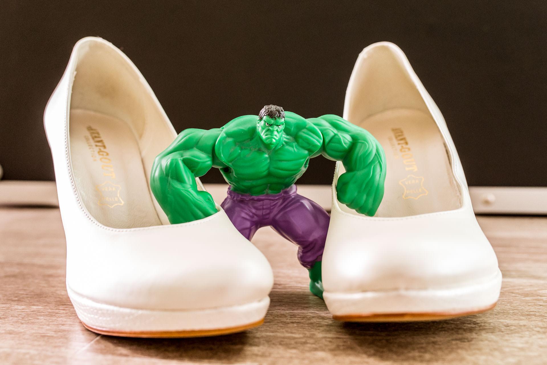Photographe de Mariage Rock chassure avec Hulk