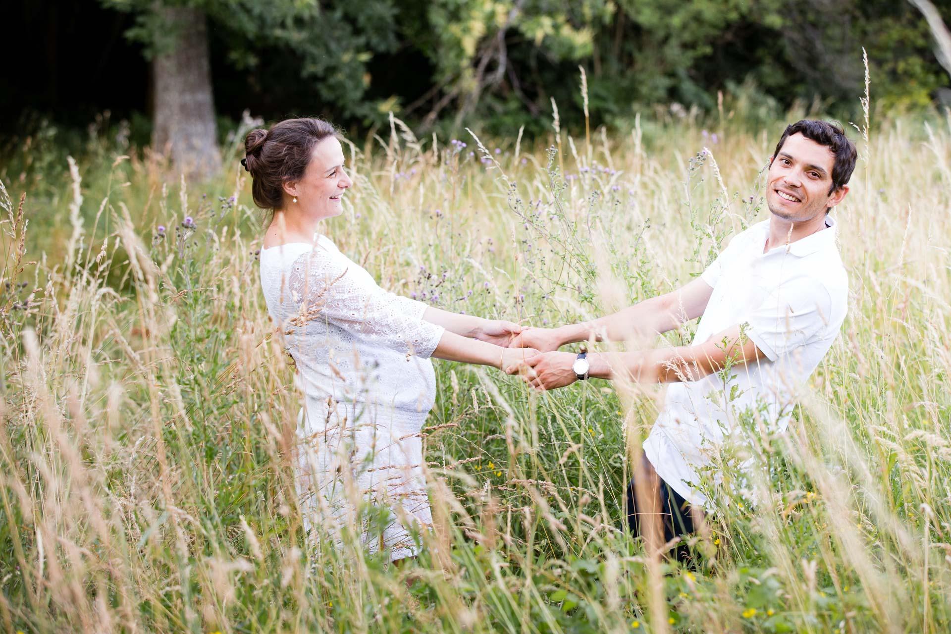 Seance Engagement Divonne Mont Mussy Clairiere photos