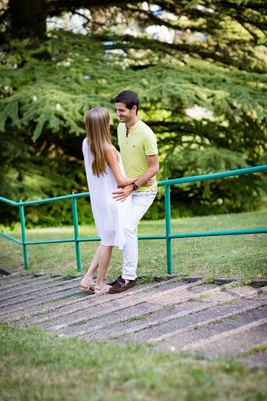 Seance engagement a Nyon rampe d'escalier